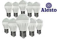 10 шт. Светодиодная LED лампа 3W, Лед лампа 3Вт ALESTO Eco Е27 3W 3Вт тёплая холодная 3000К 6000К 10шт