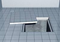 Ревизионный напольный люк из нержавеющей стали Aco Access Cover с высотой крышки 70мм B125, M125 - 12,5т, 450*450