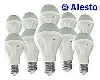 10 шт. Светодиодная LED лампа Е27 9W, Лед лампа 9Вт ALESTO Lux Е27 9W 9Вт тёплая холодная 3000К 6000К 10шт