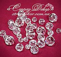 Хрустальные бусины круглые 6мм Crystal (Кристалл прозрачные)