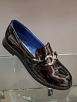 Туфли детские лакированные для девочки  черные 32-37