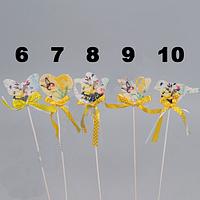 Стикер Прованс 5 см Мелкий декор. желтая лента