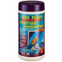 Салфетки Data Flash чистящие антистатические 100шт 1513 (TFT/PDA/LCD) (DF1513)