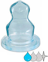Соска для бутылочки силиконовая анатомическая Мини 1 (шт.), Canpol babies