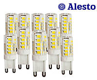 10 шт. Светодиодная LED лампа G9 4W 230 V-AC 33D, Лед лампа G9 4Вт ALESTO G9 4W 4Вт 3000К 4500К 10шт