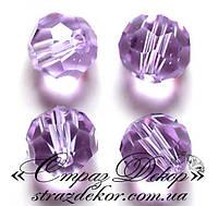 Хрустальные бусины круглые 6мм Violet (фиолетовые)