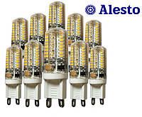 10 шт. Светодиодная LED лампа G9 4W 230 V-AC 64D, Лед лампа G9 4Вт ALESTO G9 4W 4Вт холодная 6000К 10шт