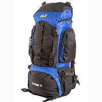 Рюкзак туристический на 70 литров JACK WOLFSKIN Extreme 70 (сине-черный)