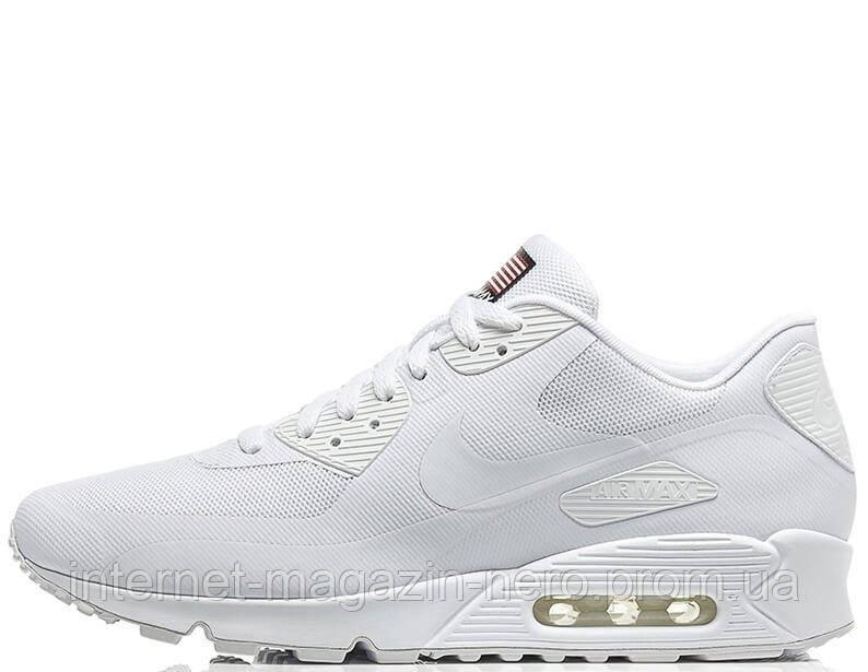 Мужские кроссовки Nike Air Max 90 Hyperfuse Independence Day White -  Интернет-магазин