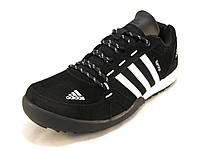 Кроссовки мужские  Adidas Daroga замшевые черно-белые (р.41,42,43,44,45)