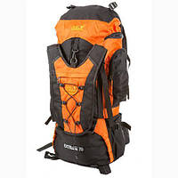 Рюкзак туристический на 70 литров JACK WOLFSKIN Extreme 70 (оранжево-черный)