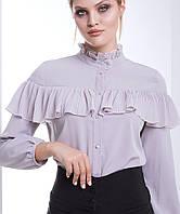 2abc9de412a Женская блузка больших размеров с рукавами из сетки (Синди lzn). Женская  блузка с оборкой на груди (Либерти lzn)