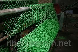 Сетка рабица в ПВХ 35*35 1,5 м  2.5 мм