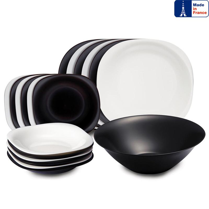 Сервіз Luminarc Carine Black/White з 19 предметів на 6 персон