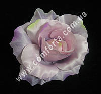 33399-08 Головка розы сиренево-розовая (диаметр - 11 см), цветок искусственный