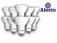10 шт.Светодиодная LED лампа GU-10 5W 230 V-AC, Лед лампа GU-10 5Вт ALESTO Gu-10 5W 5Вт 3000К 6000К