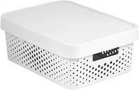 Белая перфорированная коробка с крышкой на 11 л INFINITY Curver 229167