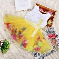 Нарядное платье для девочки с лепестками роз TUTU