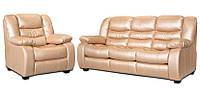 Мягкий комплект мебели с реклайнером - Эшли (3+1)