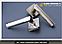 Дверная ручка  Metal-bud Daro никель- сатин, фото 3