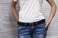 Женский кожаный бохо-ремень Графит, фото 1
