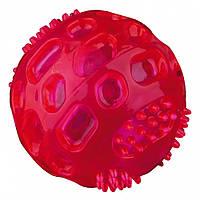 Мяч Trixie Flashing Ball для собак резиновый, с подсветкой, 6 см, фото 1