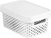 Белая перфорированная коробка с крышкой на 4.5 л INFINITY Curver 229162