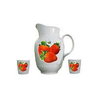 Набор для напитков Клубника 15в152