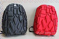 Рельефный рюкзак Block с ID разъемом ортопедическая спинка 20 л 1 отделение 30х20x40см