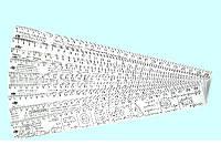 """Линейка 30 см. пластиковая """"Алгебра-тригонометрия-интеграл"""" 3 вида"""