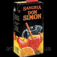 Красное сладкое вино Don Simon Sangria (Тетрабрик)7% 1л