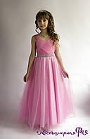 Детское нарядное пышное длинное платье