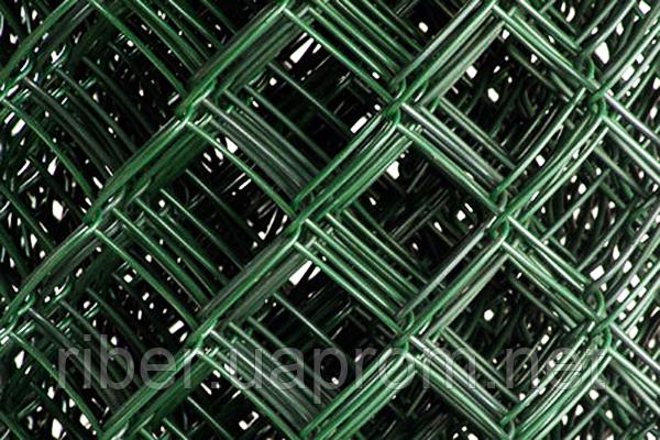 Сетка рабица  в ПВХ  1м 50*50 2.5 мм