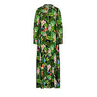 Фаберлик Платье с тропическим рисунком, цвет сочно-зеленый серии Карибиана