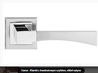 Дверная ручка  Metal-bud Gama никель сатин