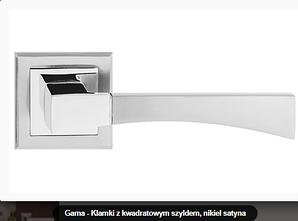 Дверная ручка  Metal-bud Gama никель-сатин