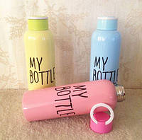 Бутылка спортивная железная MY BOTTLE 650мл J00195