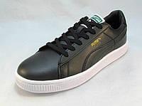 Кроссовки мужские  Puma Suede кожаные черные (пума) (р.42,44,46)