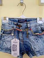 Джинсовые шорты для девочек от 1 до 5 лет