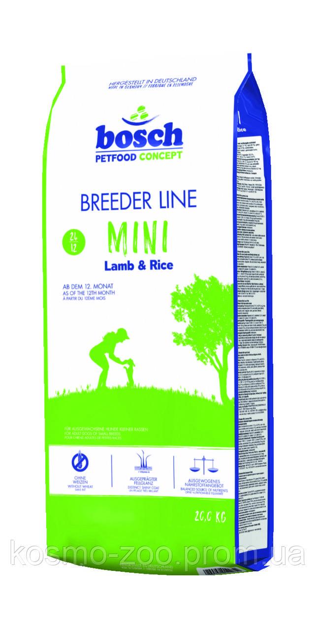 Сухой корм для собак мелких пород Бош Мини Эдалт ягненок с рисом 20 кг