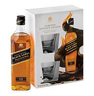 Johnnie Walker Black Label Whisky 0.7L + 2 glasses in box