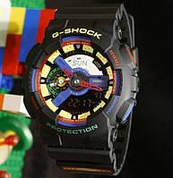 ТОП сезона ! Спортивные мужские часы Casio G-shock ga-110 Black - Violet - Yellow  (касио джи шок)