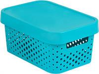 Синяя перфорированная коробка с крышкой на 4.5 л INFINITY Curver 229118