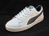Кроссовки мужские  Puma Suede кожаные белые (пума) (р.41,42,43,44,45)