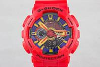 ТОП сезона ! Спортивные мужские часы Casio G-shock GA-110 RED  (касио джи шок)