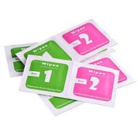 2в1 Сухая и влажная салфетки для поклейки защитного стекла (50 комплектов)