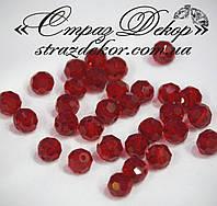 Хрустальные бусины круглые 8мм Dark Siam (темно-красные)