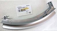 00751789 Ручка люка для стиральной машины Bosch, Siemens SE, серебристая, с осью F20