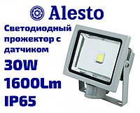 Светодиодный LED прожектор с датчиком движения и света 30W 230V-AC IP65, Лед прожектор с датчиком 30 Вт ALESTO