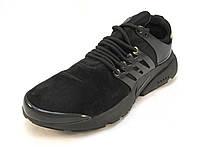 Кроссовки мужские  Nike  Presto замшевые черные (р.46)